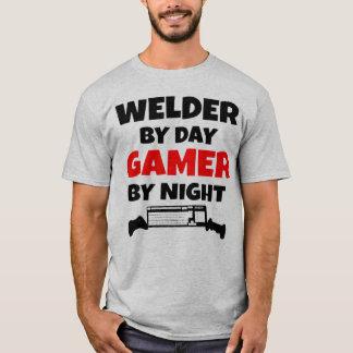 Lasser tegen Dag 's nachts Gamer T Shirt