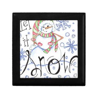 laten-het-sneeuw decoratiedoosje