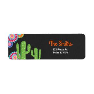 Laten we Cactus van het Etiket van het Adres van