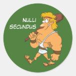 Latijn: Secundus van Nulli Sticker