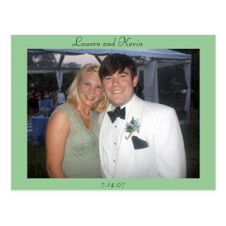 Lauren en Kevin Briefkaart