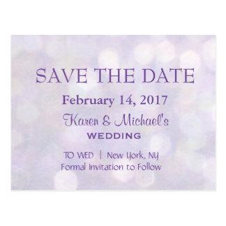 Lavendel Bokeh | sparen de Datum Briefkaart