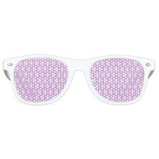 Lavendel en het Witte Patroon van de Diamant Retro Zonnebril