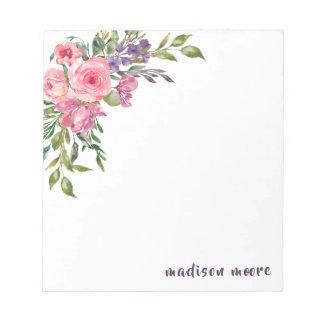 Lavendel en Roze BloemenBoeket Notitieblok