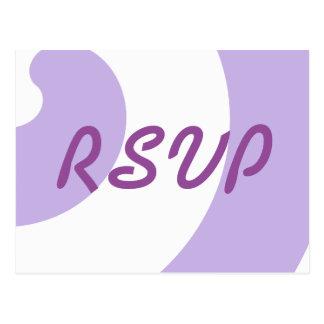 Lavendel en Witte Kaart RSVP Briefkaart