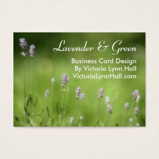 Lavendel & Groene BloemenFotografie Visitekaartjes