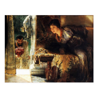 Lawrence Alma-Tadema 1883 Welkome Voetstappen Briefkaart