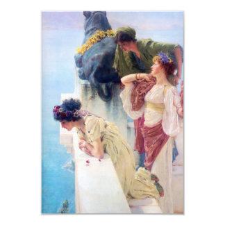 Lawrence Alma Tadema Coign van Voordeel 8,9x12,7 Uitnodiging Kaart