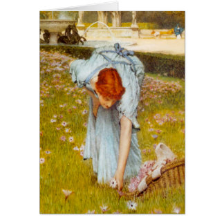 Lawrence Alma Tadema Spring in de Tuin Briefkaarten 0