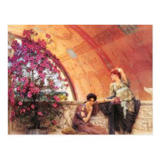 Lawrence Alma Tadema Unconscious Rivals Postcard Wenskaarten