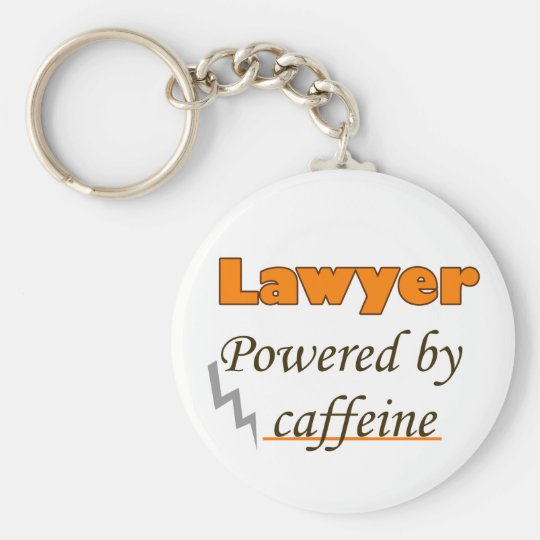 Lawyer Powered by caffeine Sleutelhanger