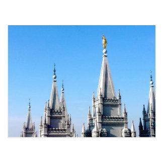 lds Salt Lake City moroni van de tempelengel Briefkaart