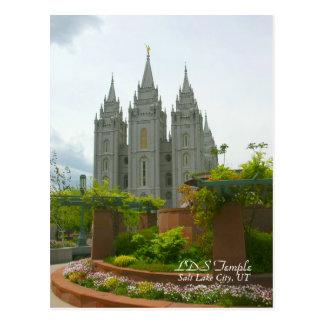LDS Tempel, het Briefkaart van Salt Lake City,