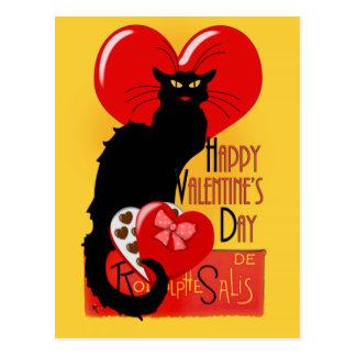 Le Chat Noir - Gelukkige Valentijnsdag Briefkaart