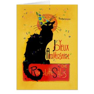 Le Chat Noir - Joyeux Anniversaire Briefkaarten 0
