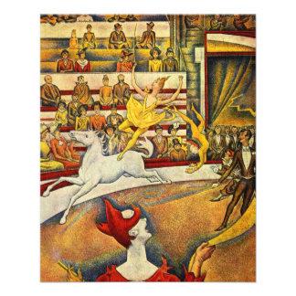 Le Cirque (het Circus) door Georges Seurat Folder Ontwerp