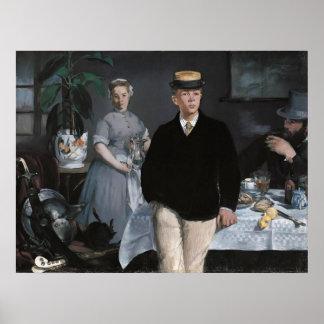 Le Déjeuner dans meer l'atelier door Édouard Manet Poster