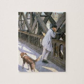Le Pont DE L'Europe: detail van een rustende man e Legpuzzel