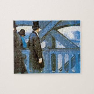 Le Pont DE l'Europe door Gustave Caillebotte Puzzel
