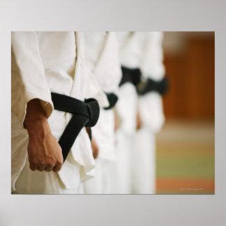 Leden van een Judo Opgestelde Dojo Poster