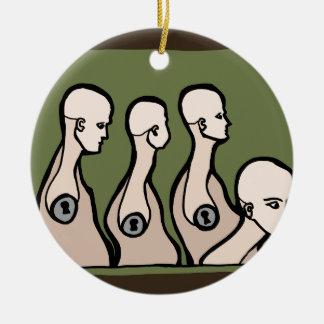 Ledenpop Torsos Rond Keramisch Ornament