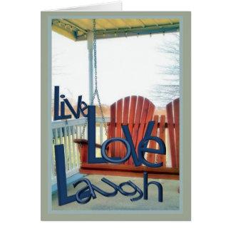 Leef de Groeten van de Lach van de Liefde Briefkaarten 0