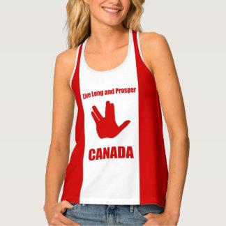 Leef de Lange Tanktop van Canada Racerback