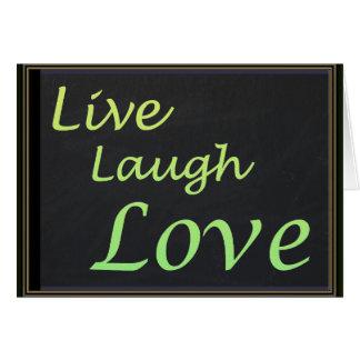 Leef de Liefde van de Lach Briefkaarten 0
