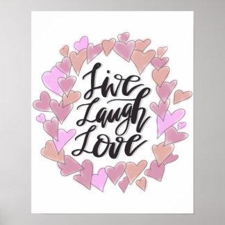 Leef de Liefde van de Lach Poster