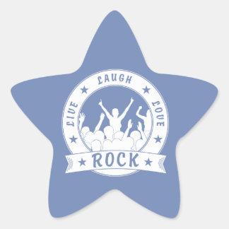 Leef de ROTS van de Liefde van de Lach (wht) Ster Sticker
