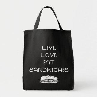 Leef de Sandwiches van de Liefde Draagtas