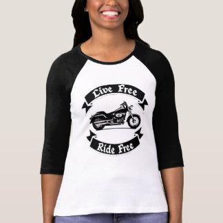 Leef de Vrije Fietser van de Motorfiets van het T Shirt