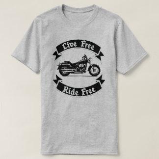 Leef de Vrije Motorfiets van het Silhouet van de T Shirt