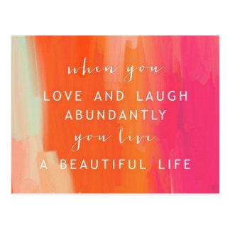 Leef en houd van het Briefkaart van het Leven