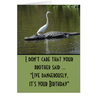 Leef gevaarlijk verjaardag briefkaarten 0
