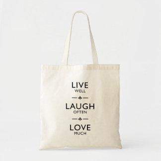 Leef goed * de Liefde van de Lach vaak * veel - de Budget Draagtas