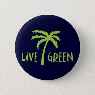 Leef Groene Palm Milieu Ronde Button 5,7 Cm