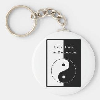 Leef het Leven in evenwicht Sleutelhanger