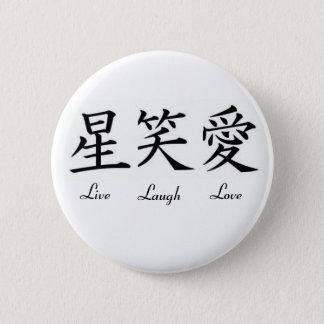 Leef, Lach, Liefde Ronde Button 5,7 Cm