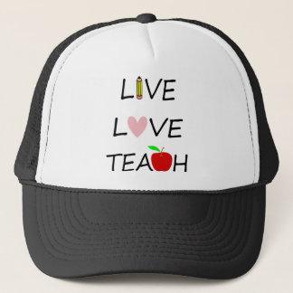 leef liefde onderwijzen trucker pet