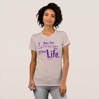 Leef Lifefun+inspirerend citaat,+citaat, T Shirt