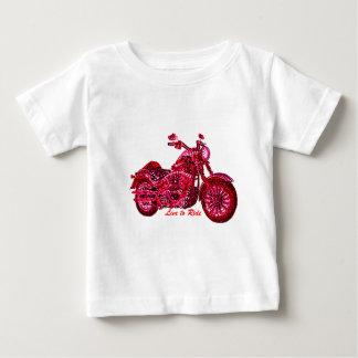 Leef om te berijden baby t shirts
