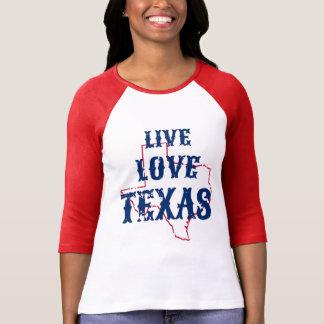 Leef raglan van Texas van de Liefde T Shirt