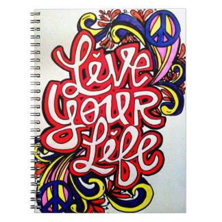 Leef uw het levensspiraal - verbindend ringband notitieboek