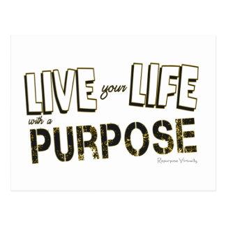 Leef uw Leven met een Doel Briefkaart