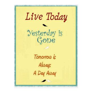 Leef vandaag Briefkaart