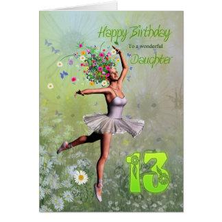 Leeftijd 13, de verjaardagskaart van de dochter briefkaarten 0