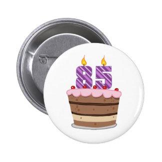 Leeftijd 85 op de Cake van de Verjaardag Ronde Button 5,7 Cm