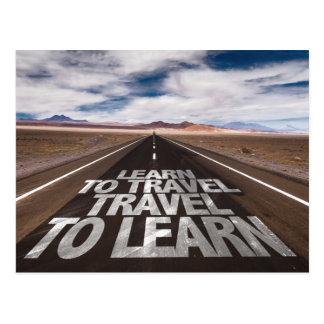 Leer om Te leren Reis te reizen Briefkaart