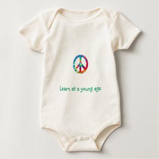 Leer op een jonge leeftijd baby shirt